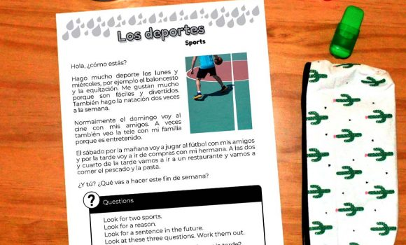 KS3 Reading Los deportes