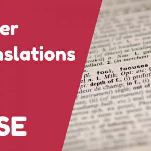 GCSE Higher Translations to English