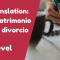 A-Level Translation – El matrimonio y el divorcio